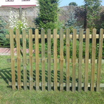 129. PICKET FENCE- 1200h mm x 1828w mm RIBBED ONE SIDE - 15 PALINGS 16 x 70