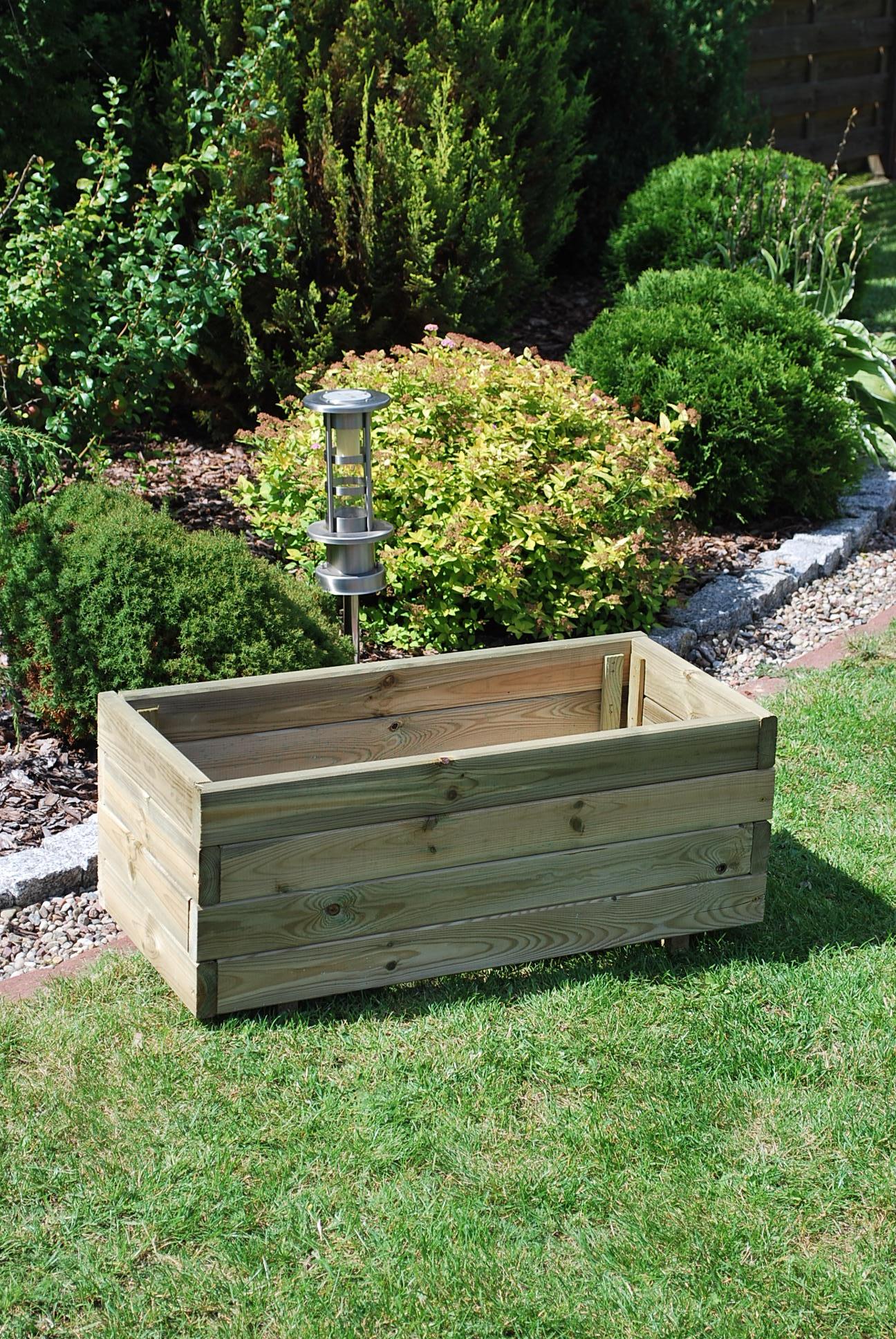 161. NORFOLK rectangular medium planter 750x350x305 made from 25 x 70 elements