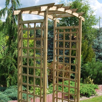 18. ASCOT - ARCH SMALL WITH CURVED TOP, SQUARE LATTICE