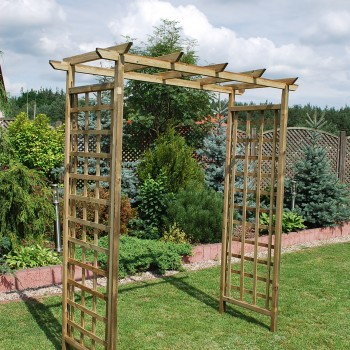 21. ASCOT - LARGE ARCH WITH FLAT TOP, SQUARE TRELLIS