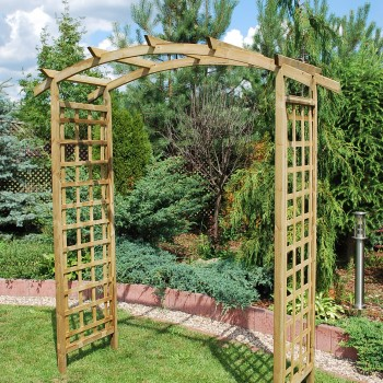 24. ASCOT - LARGE ARCH WITH CURVED TOP, SQUARE LATTICE